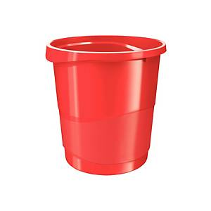 ESSELTE VIVIDA WASTE BIN 4L RED