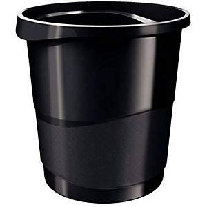 Corbeille à papier Esselte Vivida - 14 L - noire