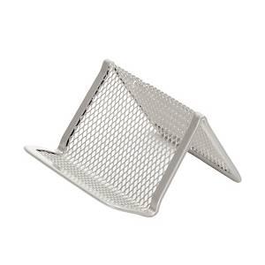 SaKOTA Visitenkartenständer aus Drahtmetall, silber