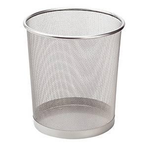 SaKOTA Papierkorb aus Drahtmetall, 10 l, silber