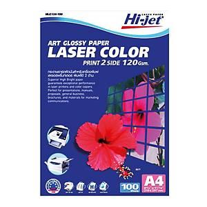 HI-JET COLOR LASER ART PHOTO PAPER A4 120G - PACK OF 100
