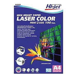 HI-JET กระดาษโฟโต้เลเซอร์ แบบด้าน A4 190 แกรม 1 แพ็ค บรรจุ 50 แผ่น