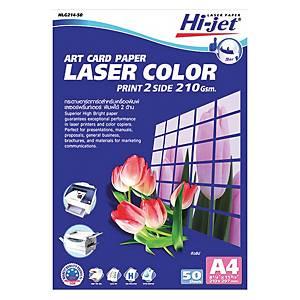 HI-JET COLOR LASER ART CARD PAPER A4 210G - PACK OF 50