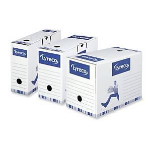 Pack 10 cajas de archivo definitivo Lyreco - folio - lomo 100 mm - blanco