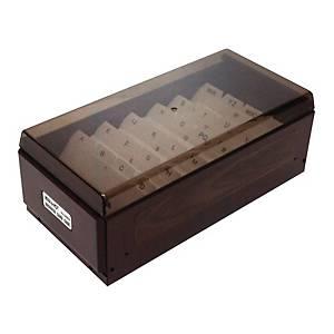 KW-TRIO 木紋名片盒 (600張)