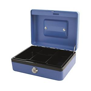 CARL CB-2008 Cash Box with Key Blue