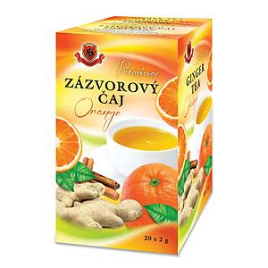Herbex čaj se zázvorem a pomerančem HB v papírových sáčcích, 20 kusů á 2 g