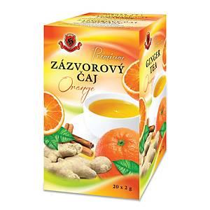 Zázvorový čaj s pomarančom Herbex, 20 vrecúšok