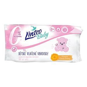 Linteo Baby nedves törlőkendő, 72 darab