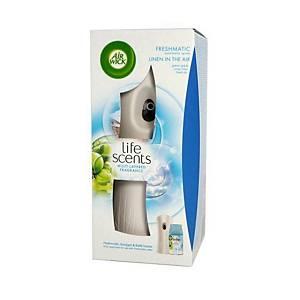 Air Wick Freshmatic strojek + náhradní náplň svěží prádlo a šeřík 250 ml