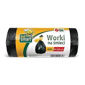 Paclan Müllbeutel HDPE Polyethylen, 60 l schwarz