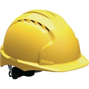 Schutzhelm JSP EVO3 AJF170, aus HDPE, Drehverschluss, belüftet, gelb