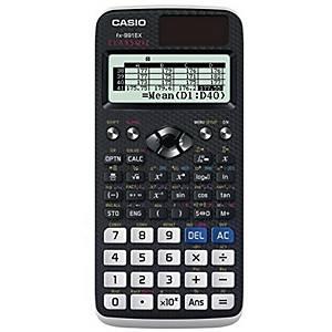 Taschenrechner Casio FX-991DEX, 10stellig, Solar-/Batteriebetrieb, grau