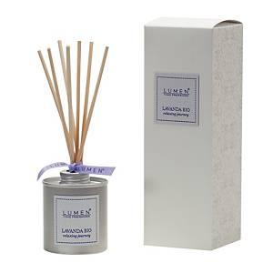 Diffusore a bastoncini Lumen con olio essenziale di lavanda in alluminio 100 ml