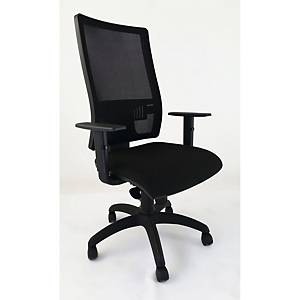 LGT CHAIR W/ARMS UPHOLSTERY BLACK