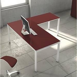 Mesa Ala Ocean Luxe color blanco pies metalicos dimensiones 1000x600x750mm