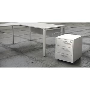 LUXE PEDESTAL 3 DRAWERS WHITE SHINE