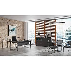 Mesa Atlantic Luxe estructura y pies metálicos color blanco/cromado  200x90x74
