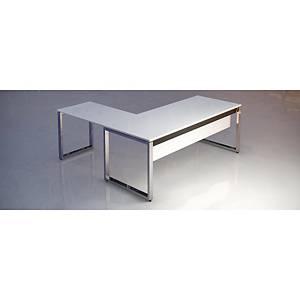 Ala Atlantic Luxe estructura y pies metálicos color blanco/cromado  95x60x74