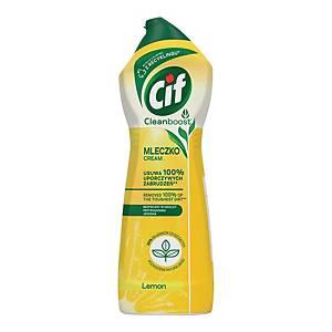 Mleczko do czyszczenia CIF Cream, cytrynowe, 650 ml/780 g