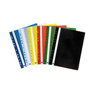 Függő panorámás gyorsfűző, A4, PP, kék, 10 darab/csomag