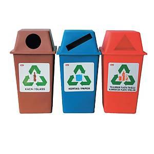 IMEC Recycling Bin 50L- Set of 3