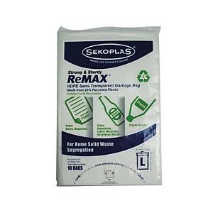 Sekoplas Remax High Density Bags Extra large - Pack  of 10