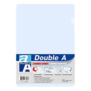 Double A Plastic Folder A4 Clear - Pack of 12