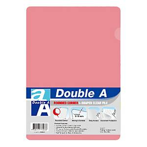 Double A Plastic Folder A4 Red - Pack of 12