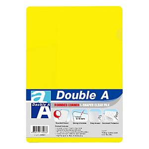 Double A Plastic Folder A4 Yellow - Pack of 12