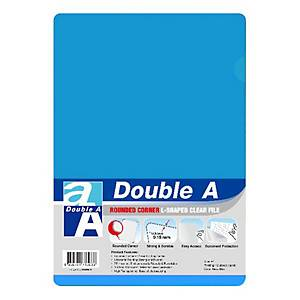 Double A Plastic Folder A4 Indigo Blue - Pack of 12