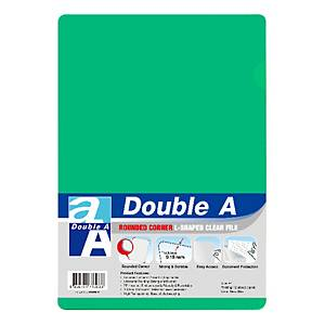 Double A Plastic Folder A4 Green - Pack of 12