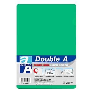 Double A 膠文件套A4 綠色 - 每包12個