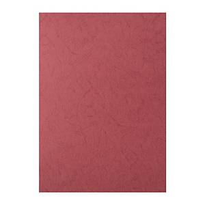 Leathergrain Binding Cover A4 Red - Pack of 100