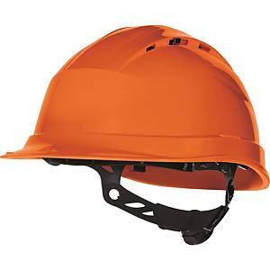 Casque de protection Quartz Up IV Delta Plus, plage de réglage 53-63 cm, orange