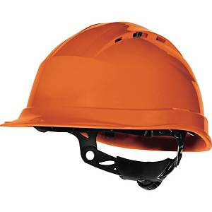Deltaplus Quartz IV Up safety helmet in PP with 8 fixing points orange