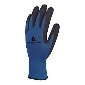 VE631 latex kesztyű általános munkavégzéshez, kék/fekete, méret: 9