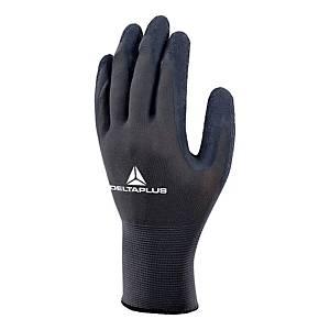 VE630 latex kesztyű sokoldalú használatra, szürke/fekete, méret: 8