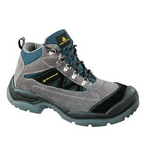 Bezpečnostná členková obuv DELTAPLUS CAROMB, S1P SRC, veľkosť 42, sivo-modrá