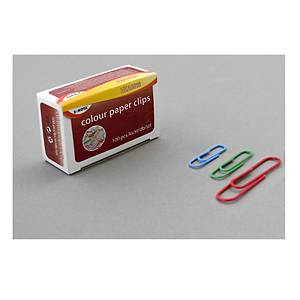 PK100 PAPER CLIP ROUND 50MM ASSORTED