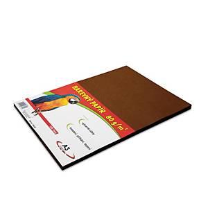 Stepa farebný papier A3 80g/m2 hnedý, balenie 100 listov
