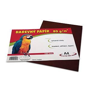 Barevný papír A4 - hnědý