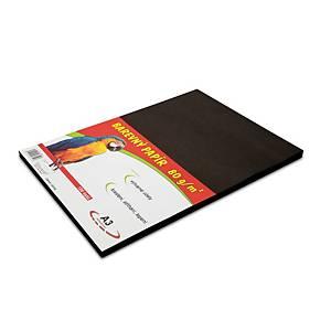 Stepa farebný papier A3 80g/m2 čierny, balenie 100 listov