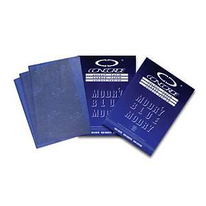 Karbonový papír Sevt A4, modrý, balení 100 listů