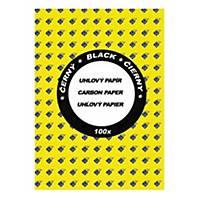 Ševt A4 Karbonpapier, schwarz, Packung mit 100 Blatt