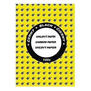 Sevt uhľový papier A4 čierny, balenie 100 listov