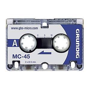 /BX3 GRUNDIG MC45 MICROCASSETTE 45MIN