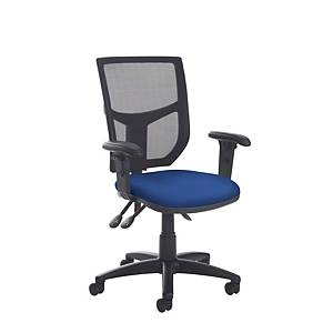 Altino High back Mesh Chair Blue with Adjustbale Arms - Delivery Only
