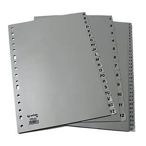 Separador abecedario A-Z Grafoplás - folio - PP - multitaladro