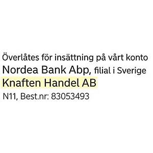 /NORDEA FÖR INSÄTTNING - N11